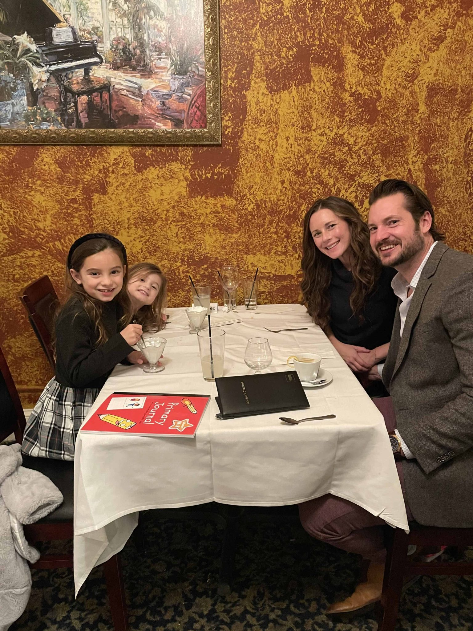 family at Michael's Trattoria in Wallingford