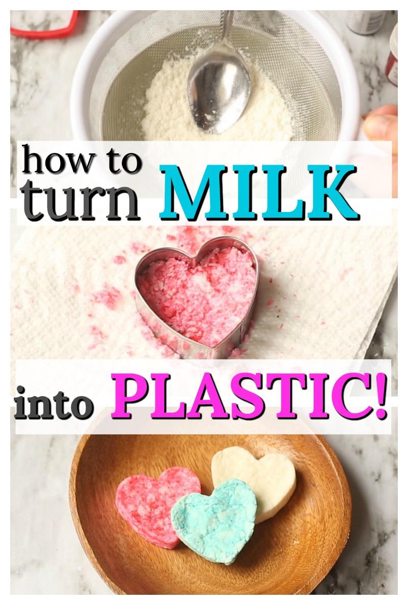 Indoor Winter Activities for Kids - How to turn milk into plastic
