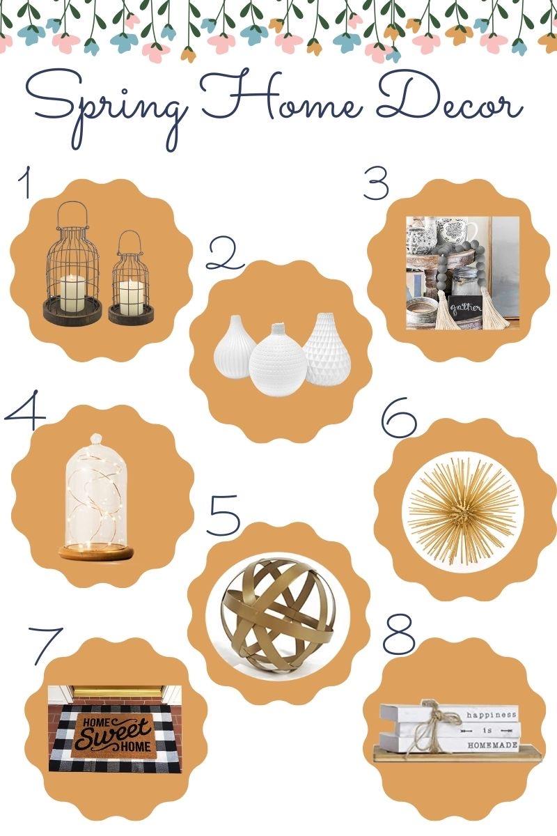 Inexpensive Spring Home Decor on Caitlin Houston Blog