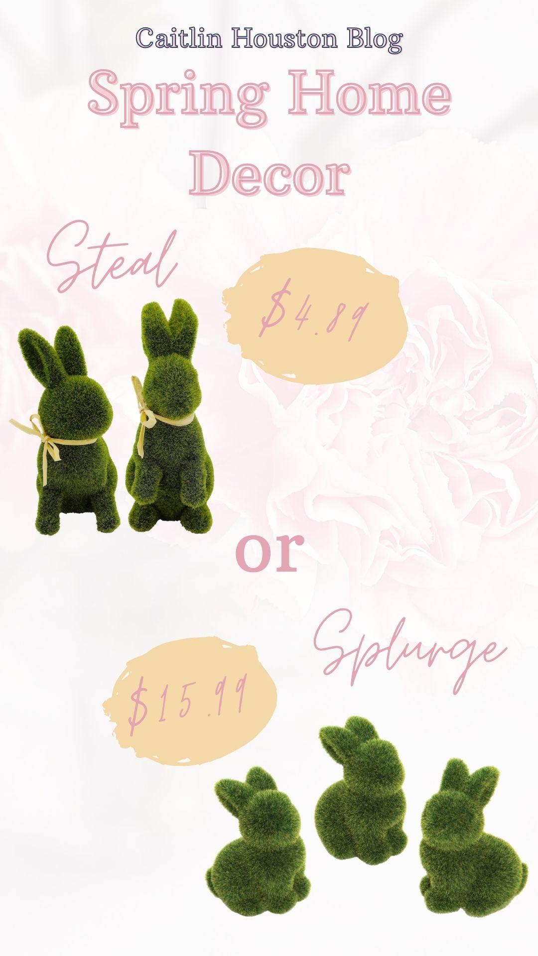 Spring Home Decor Steal or Splurge