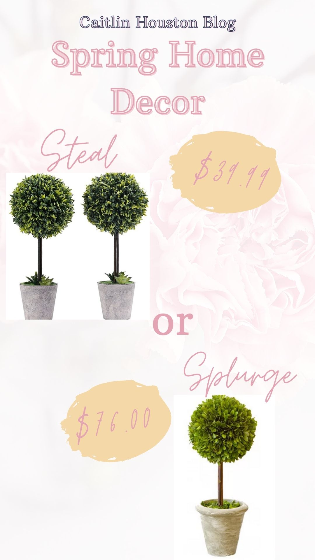 Spring Home Decor Topiary