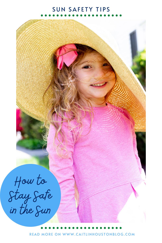 Little Girl in UPF 50 clothing sun safe tips