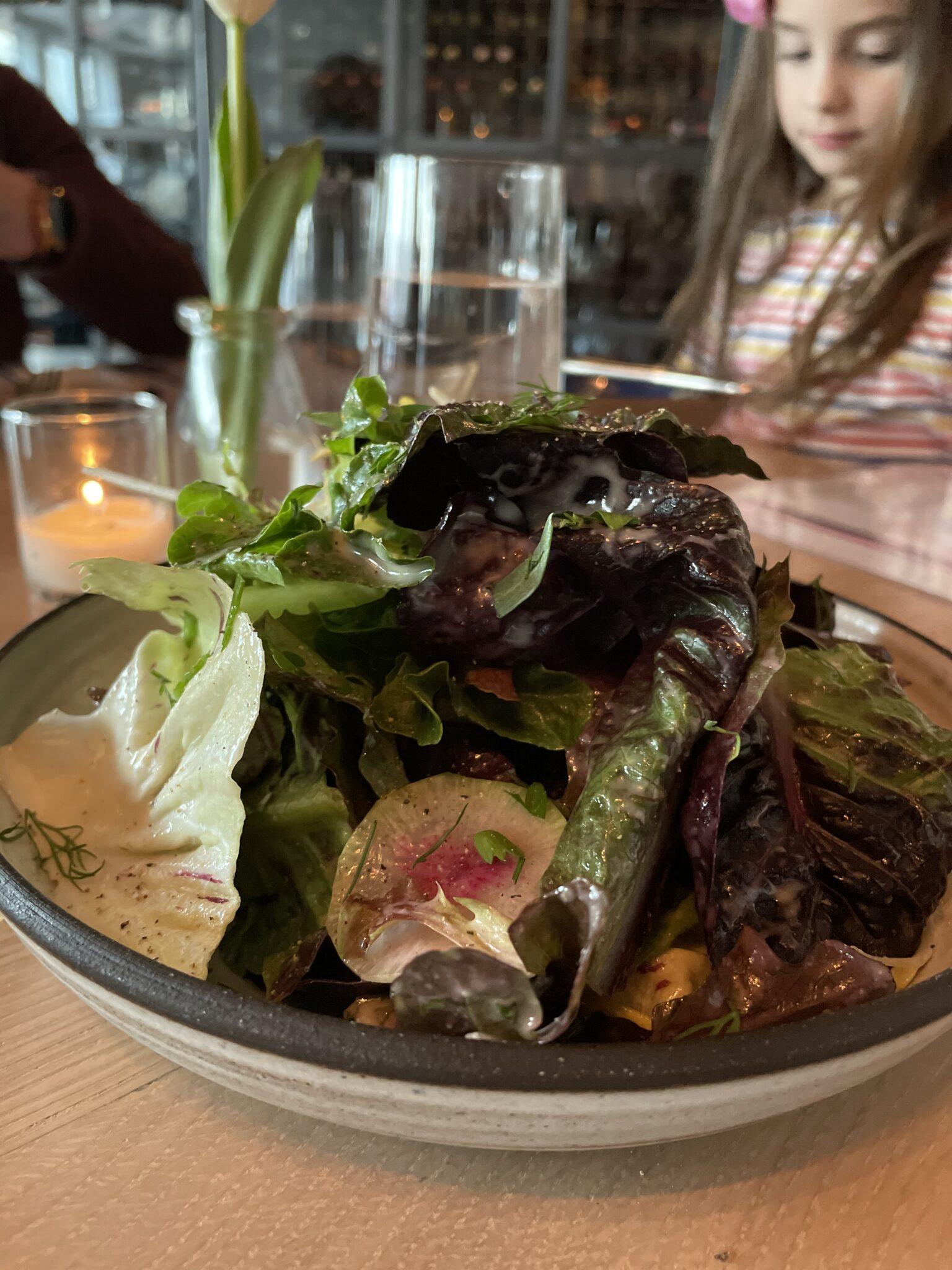 Lemony Greens Salad at the Shipwright's Daughter