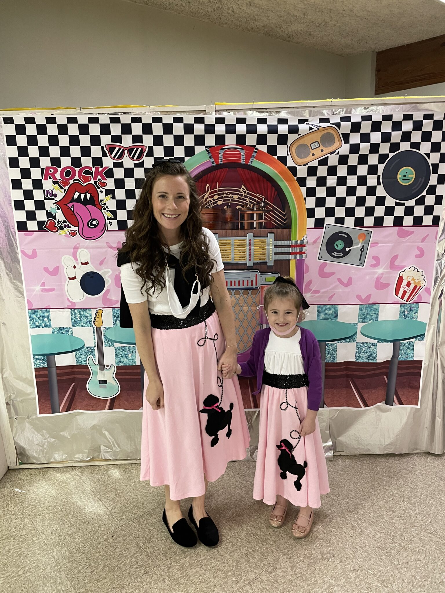 50s Sock Hop Outfits Poodle Skirts Mommy and Me