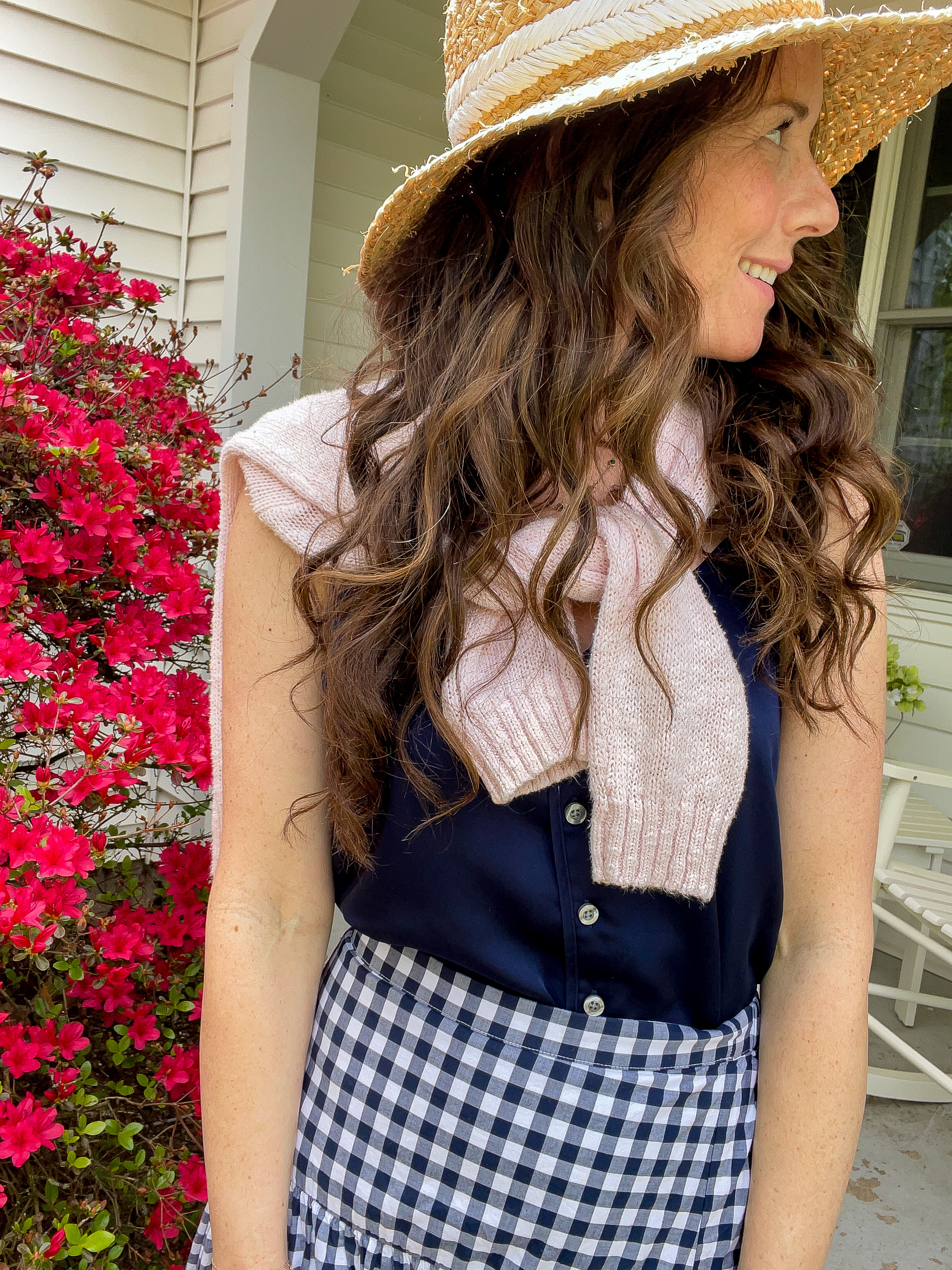 Three ways to Style a Gingham Skirt