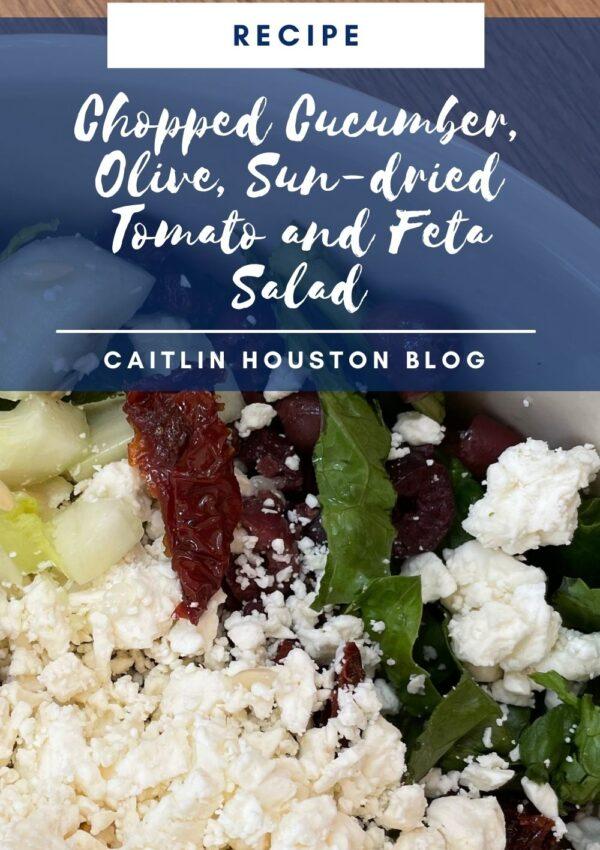 Simple Cucumber, Olive, Sun-dried Tomato Feta Salad Recipe