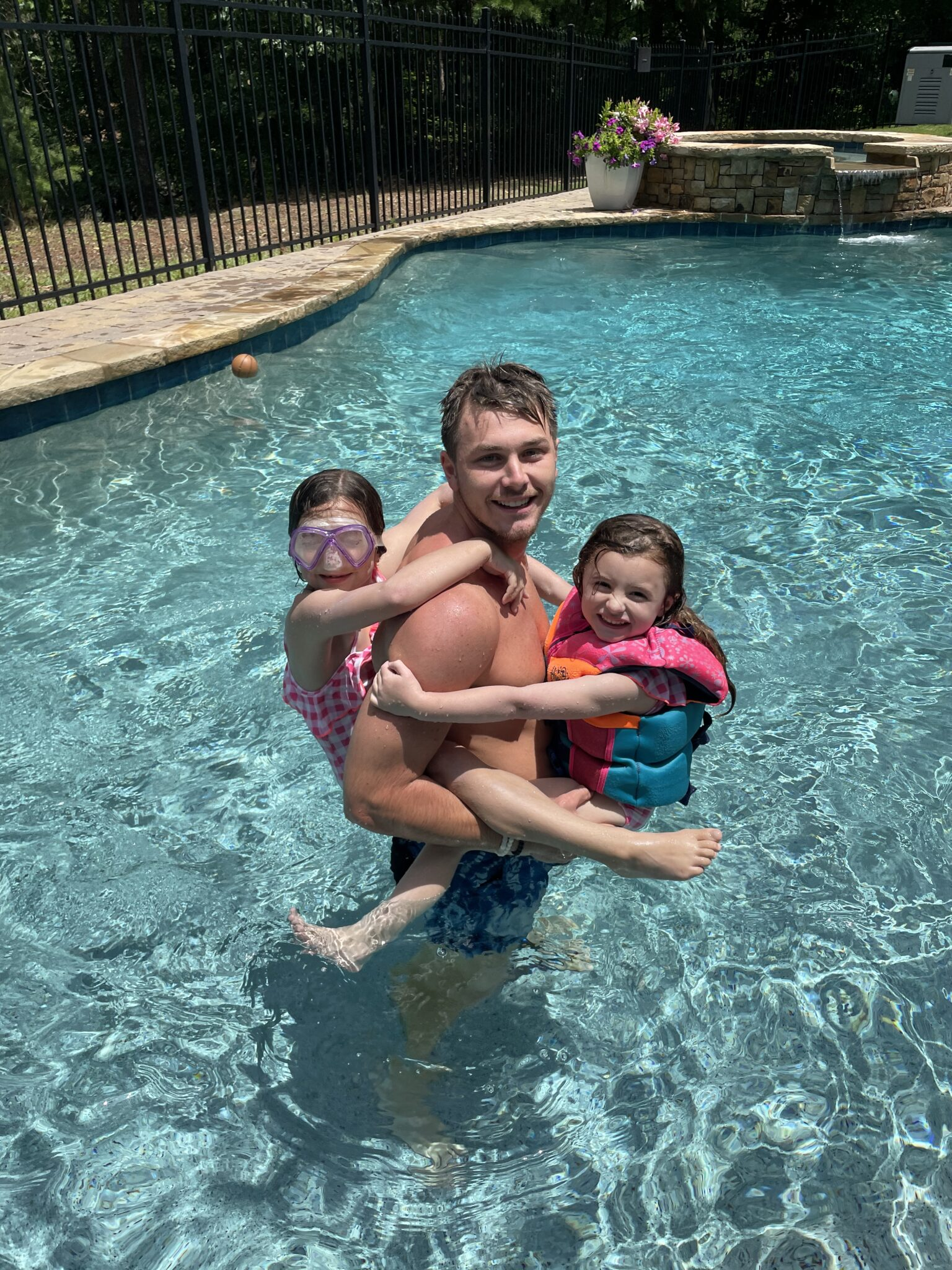 Little kids with Cousins in the Pool