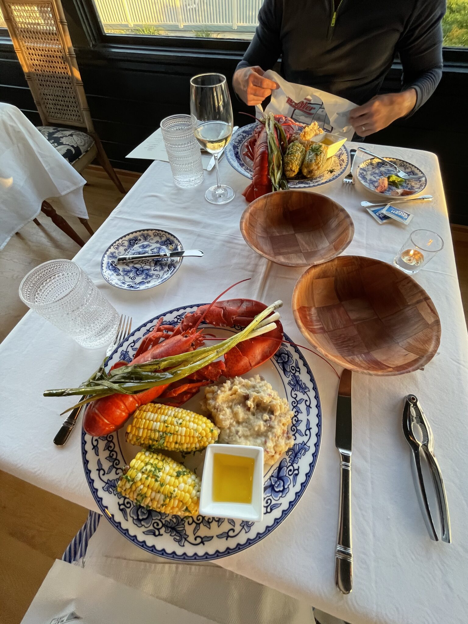lobster dinner in Maine