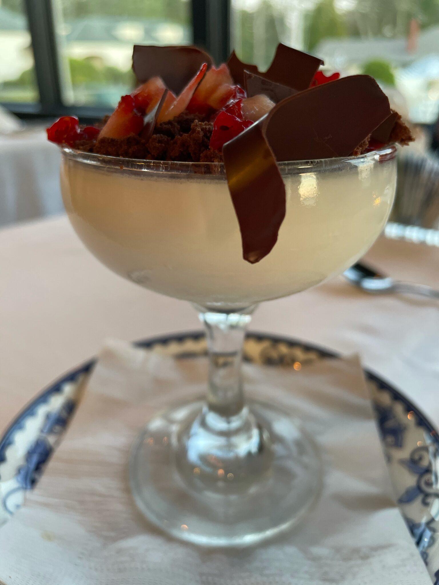 Vanilla Panna Cotta inspired by chocolate covered strawberries