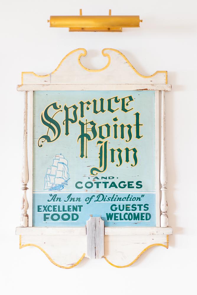 Spruce Point Inn sign