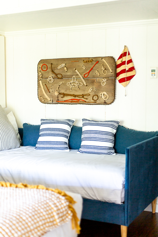 Coastal Maine inspired bedroom decor