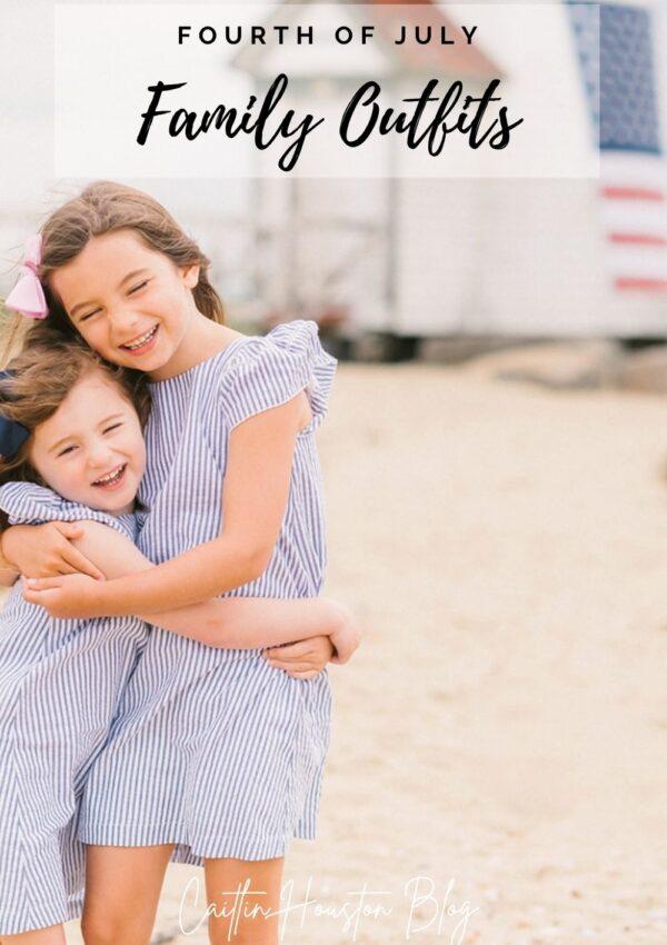 sisters in matching dresses hugging in nantucket