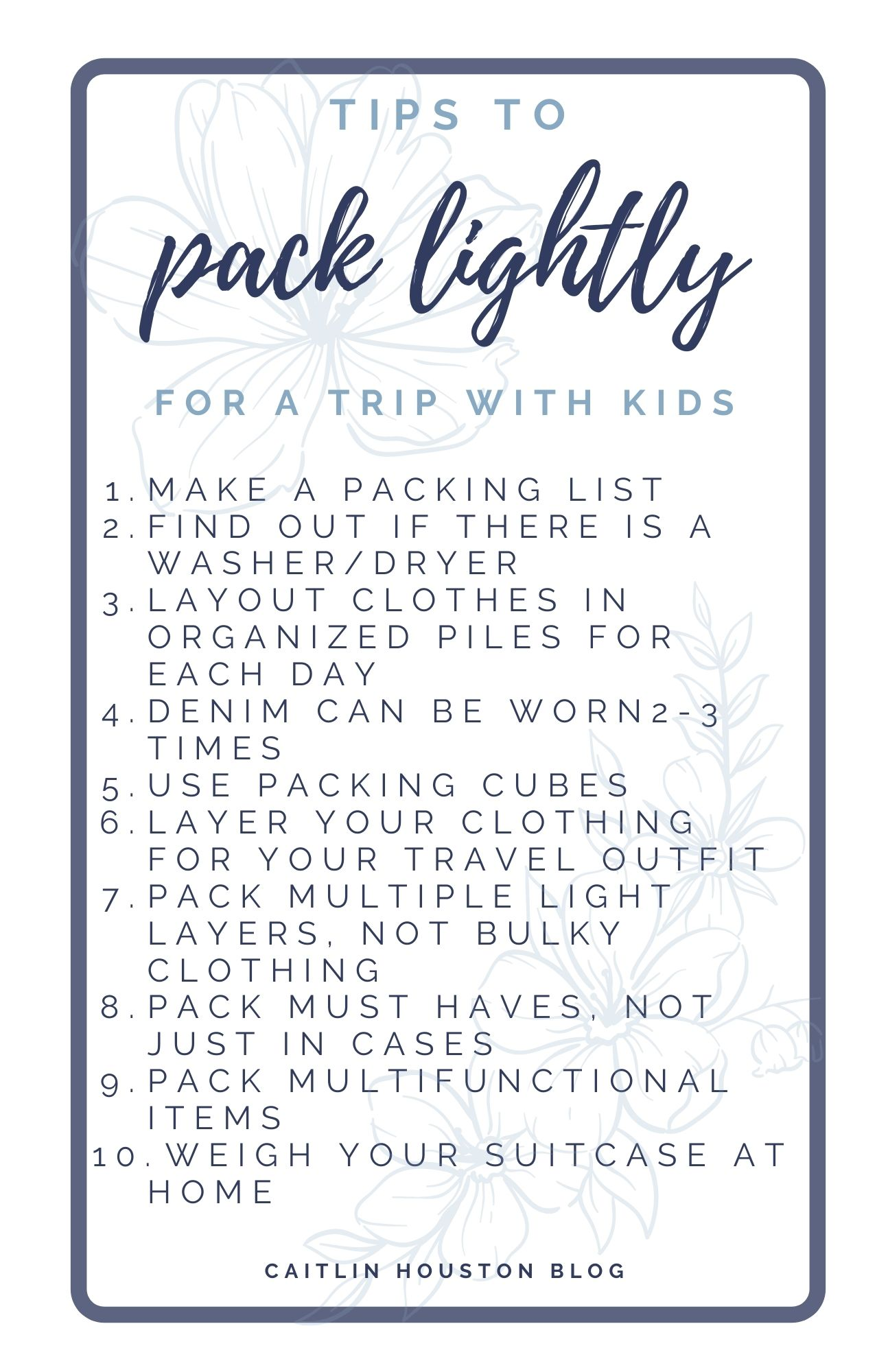 Tips to Pack Lighting for a Trip with Kids