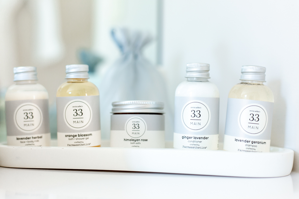 luxurious bath products at 33 Main