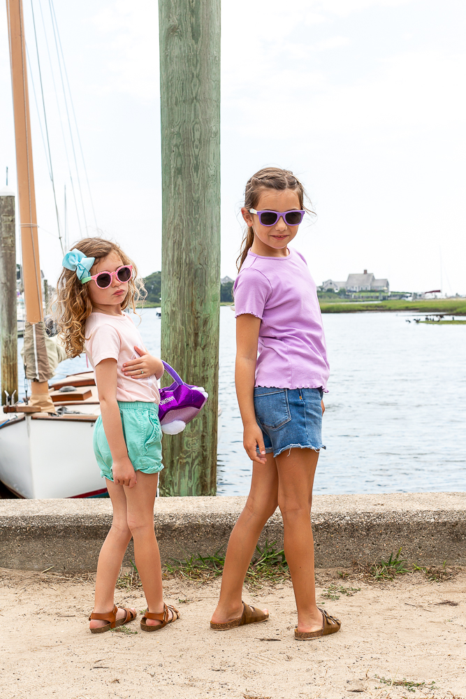 silly sisters in Cape Cod on Dock in August Life Lately 2021