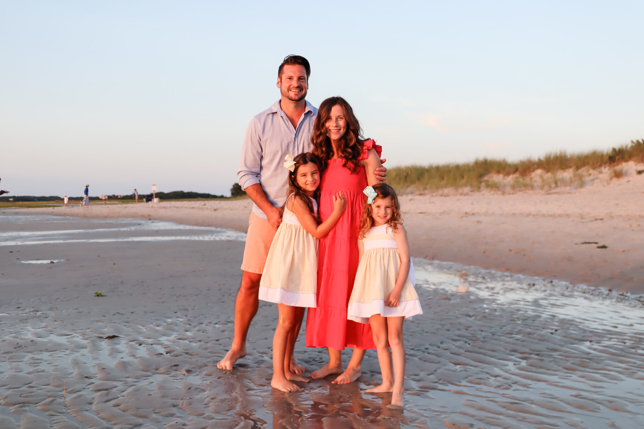 Family Photo at Skaket Beach by Brie Anderson Cape Cod Photography