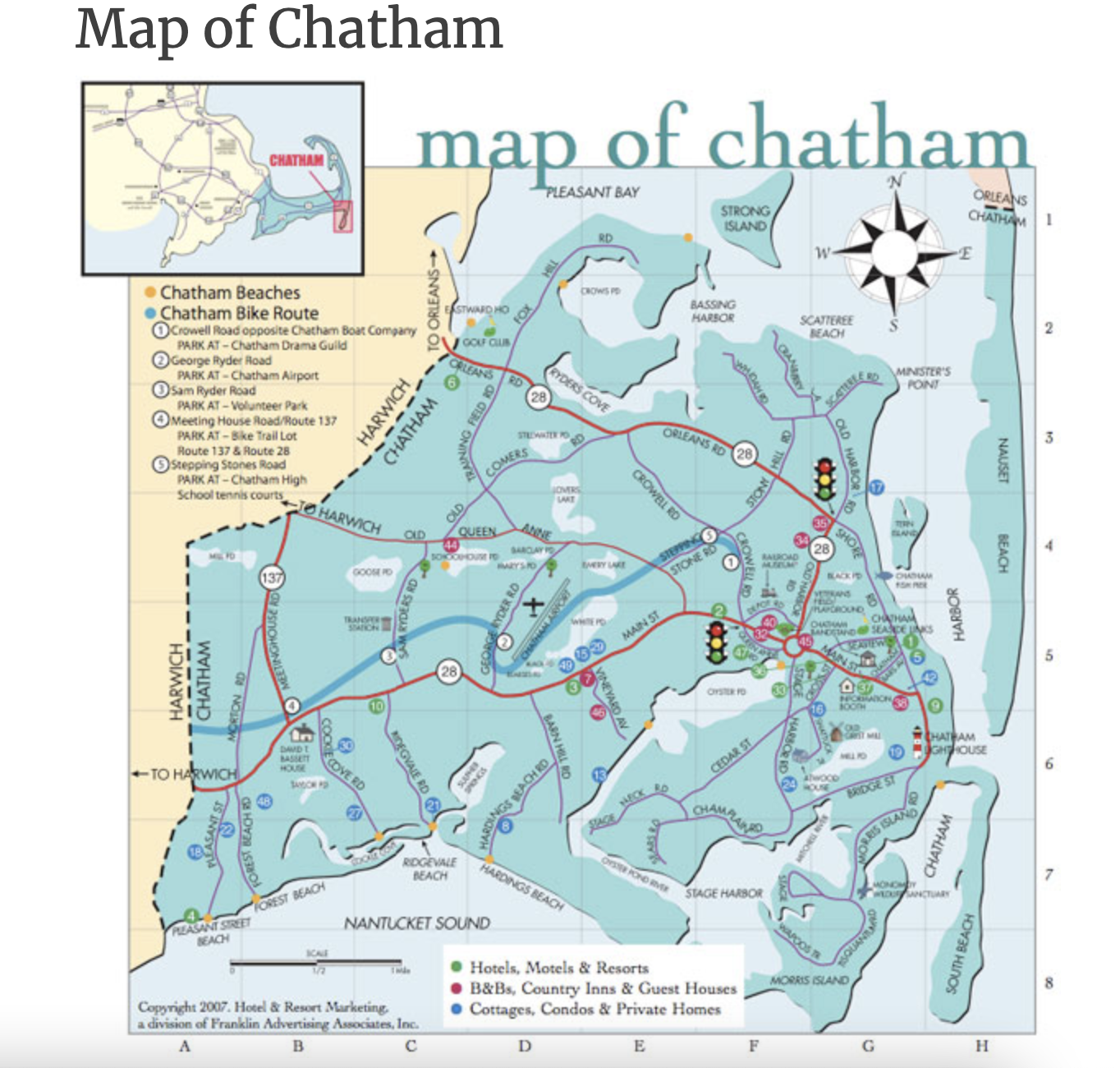 Map of Chatham Cape Cod