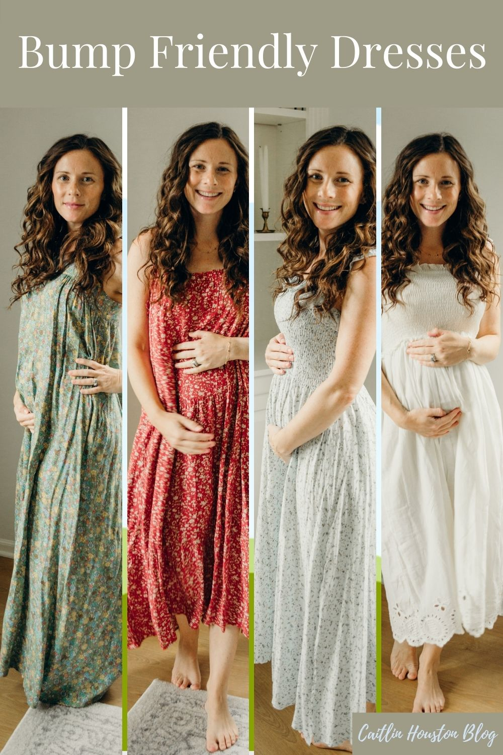 Bump Friendly Dresses by Natural Life on Caitlin Houston Blog