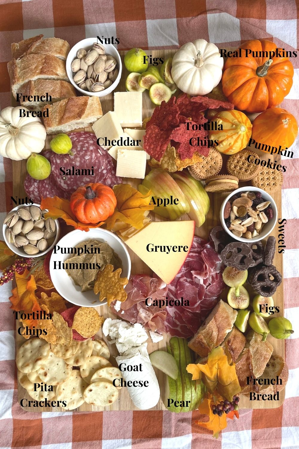 Charcuterie Board for Fall Ingredients