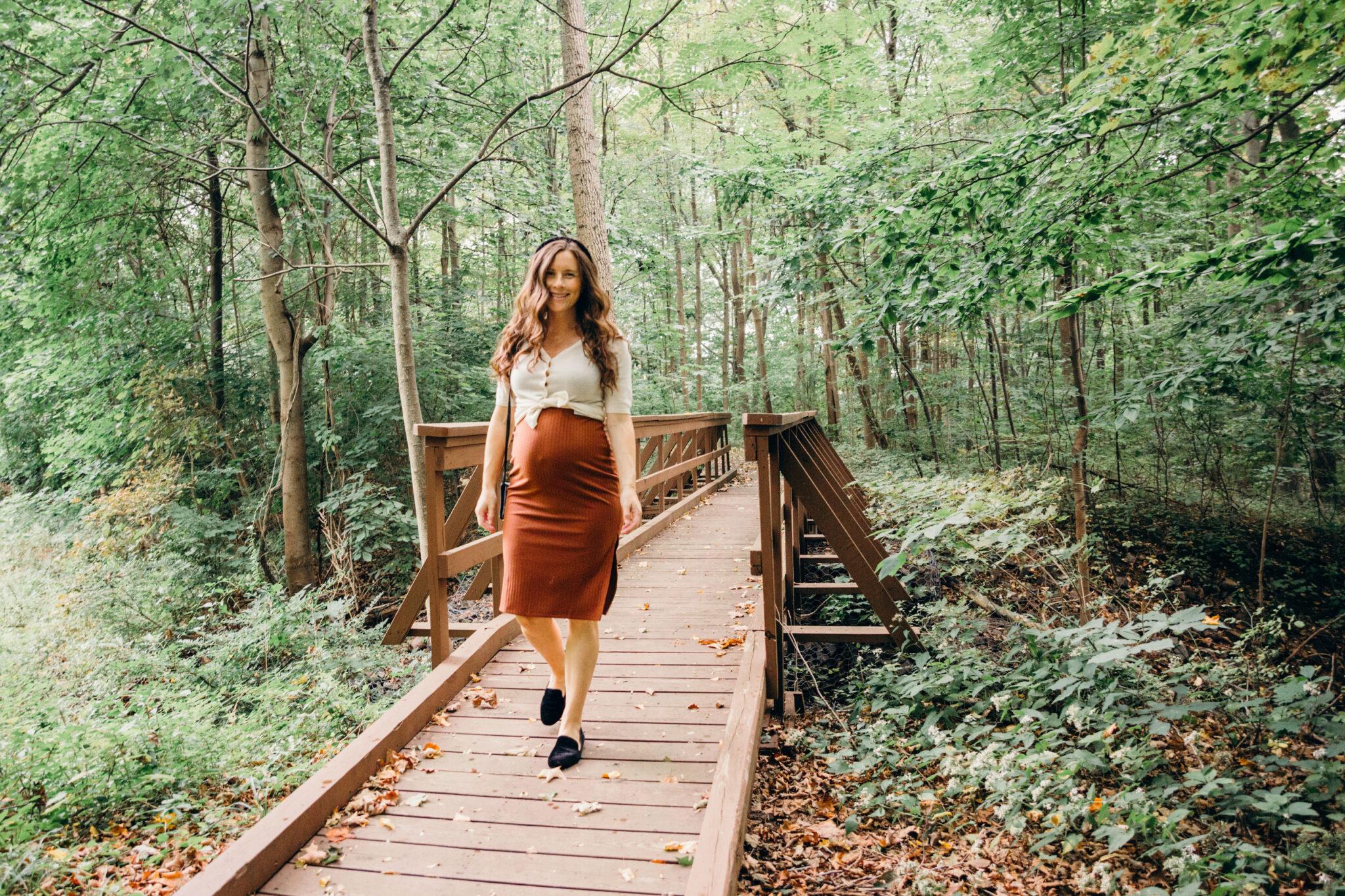 fall style pencil skirt maternity